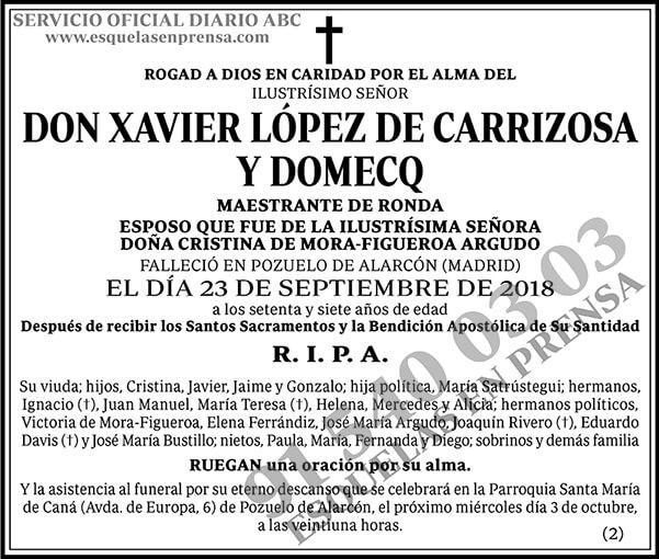 Xavier López de Carrizosa y Domecq